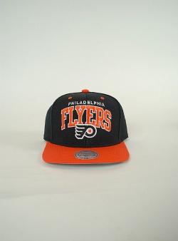 Mitchell and Ness Flyers team arch 2 tone snapback Black