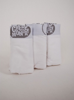Cheap Monday 3-pack trunks White
