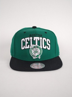 Mitchell and Ness Celtics team arch 2 tone snapback Green