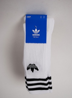 Adidas Solid crew sock 3 pack White black