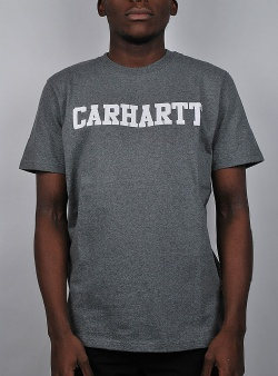 Carhartt College tee Dark grey heather white