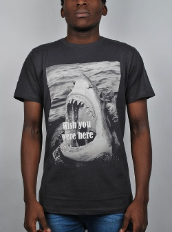 Dedicated Wish you were here tee Charcoal
