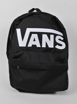 Vans Old skool II dropped v logo backpack Black