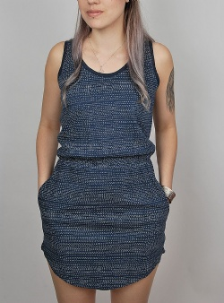 Wemoto New tavi dress Navy blue white