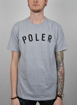 Poler State tee Gray heather