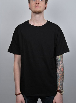 Revolution Dropped shoulder tee Black