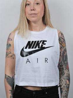 Nike Tank crop air White black