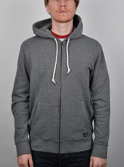 Obey Lofty creature comfort zip hood Heather grey