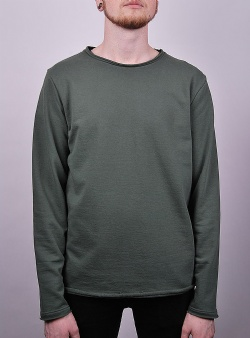 Revolution Rolled edges crew sweat Army