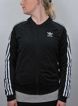 Adidas Superstar track top womens Black