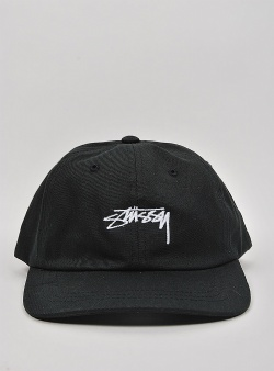Stussy Smooth stock low cap Black