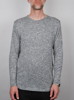 Revolution Knitted melange long sleeve tee Grey