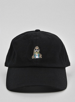 40s and shorties Unplugged dad hat Black