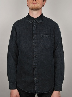 Cheap Monday Rude denim shirt Worn Black