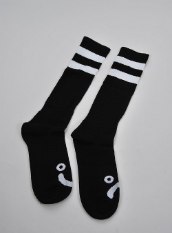 Polar Skate Company Happy sad socks Black