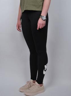 Nike Leg a see logo logo leggings Black white
