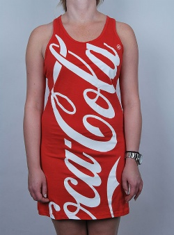 Hype X Coca cola dress Red white