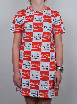 Hype X Coca cola real thing dress Red white