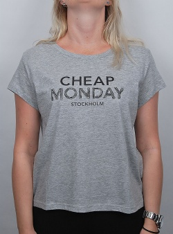 Cheap Monday Have tee doodle logo Grey melange