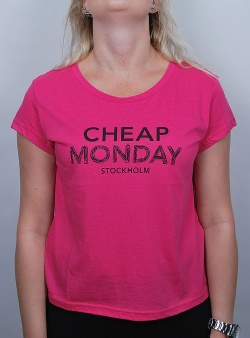 Cheap Monday Have tee doodle logo Neon pink
