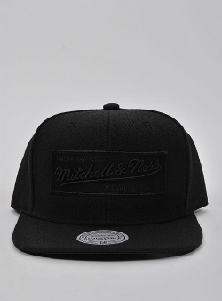 Mitchell and Ness Box logo snapback Black black