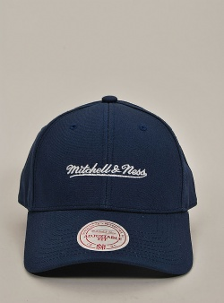 Mitchell and Ness Low pro logo strapback Navy