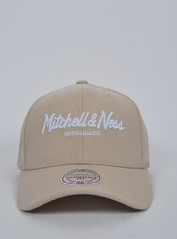 Mitchell and Ness Pinscript logo 110 flexfit snapback Khaki