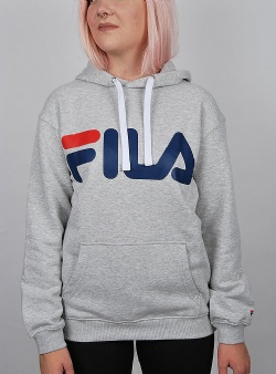 Fila Logo hoody unisex Light grey melange bros