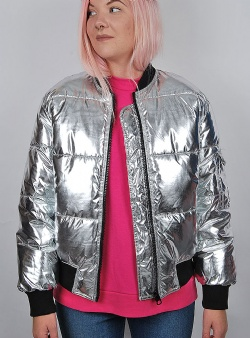 Cheap Monday Risky bomber Silver