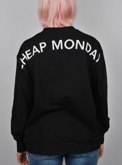 Cheap Monday Con sweat arched logo Black