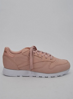 Reebok Classic leather womens nude nubuck Rose cloud white