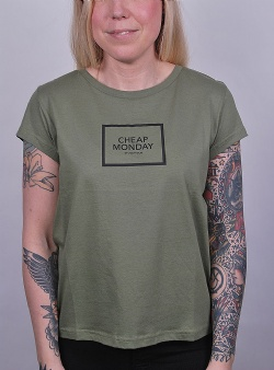 Cheap Monday Have tee square logo Bleached olive