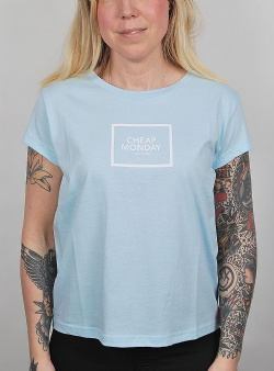 Cheap Monday Have tee square logo Light blue