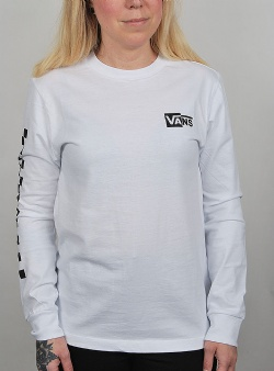 Vans Half checked long sleeve tee White