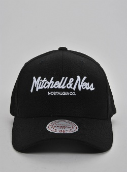 Mitchell and Ness Pinscript 110 flexfit snapback Black