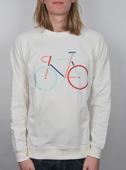 Dedicated Color bike embroidery Off white