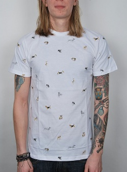 Dedicated Kennel pattern tee White