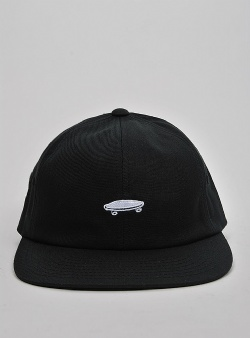 Vans Salton II 6 panel cap Black white
