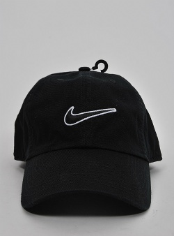 Nike H86 filled swoosh cap Black