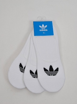 Adidas No show sock 3 pack White