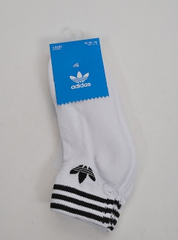 Adidas Trefoil ankle socks 3 pack White