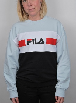 Fila Angela crew sweat Angel falls bright white black
