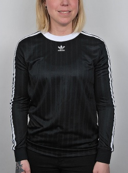 Adidas 3 stripes longsleeve tee Black