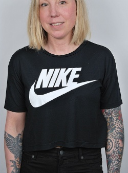 Nike Essntl top crop ss Black