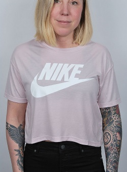 Nike Essntl top crop ss Blyros white