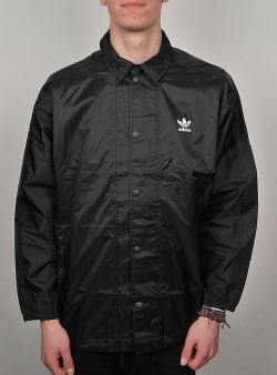 Adidas Trefoil coach jacket Black