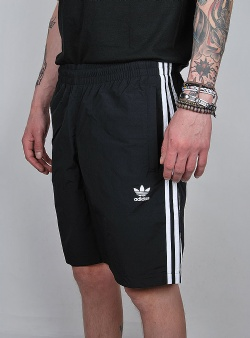 Adidas 3 stripes swim Black