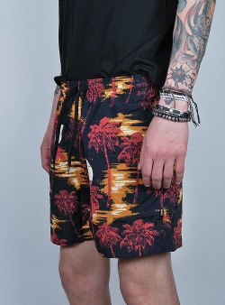 WeSC Zack hawaii swim trunks Hawaii night