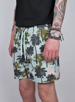 WeSC Zack hawaii swim trunks Hawaii day