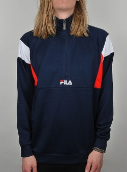 Fila Keith half zip shirt Peacoat high risk red bright white